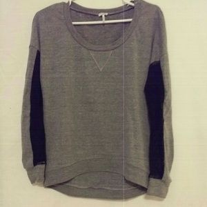 |Splendid| Gray and Black lace sweater Small